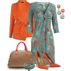 """Teal and Orange"" by yasminasdream on Polyvore"