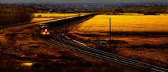 Coal train in the evening light panoramic photo 6 by ImageFever