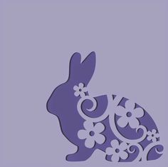 EASTER bunny svg card by Daniela Angelova Kirigami, Easter Projects, Easter Crafts, Happy Easter, Easter Bunny, Easter Card, Silhouette Curio, Animal Silhouette, Rena