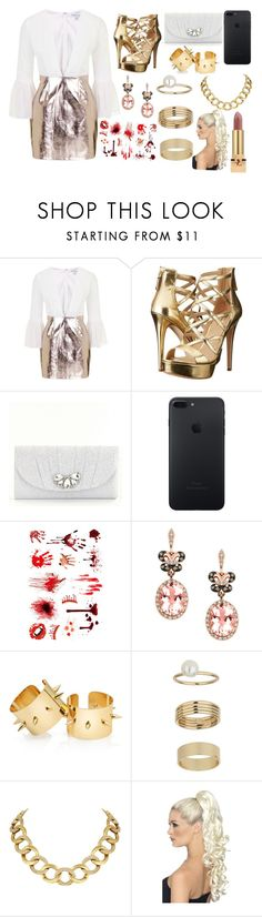 """""""Sin título #3766"""" by onedirection-h1n1l2z1 on Polyvore featuring Topshop, GUESS, Kate Landry, Effy Jewelry, Miss Selfridge, House of Harlow 1960 y Yves Saint Laurent"""