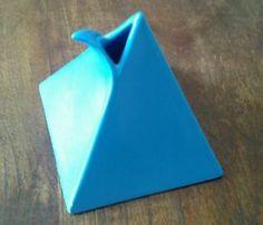"Rare Mikasa Helena Uglow Blue  Pyramid  Pourer 4.5""x4"" NICE!"