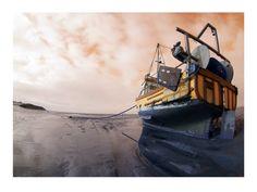 The Orange Boat by DavidFirth on Etsy