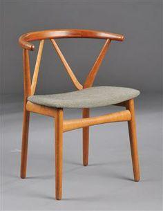Henning Kjærnulf; Oak Armchair for Bruno Hansen, 1950s.
