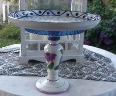 Handmade bird feeder bath or display your by GlassGardenGorgeous, $25.00