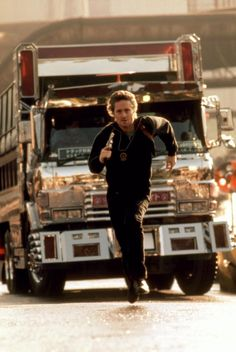 "Michael Douglas in ""Black Rain"" (1989). DIRECTOR: Ridley Scott. Black Rain Movie, Kate Capshaw, New York Movie, Black Hawk Down, Thelma Louise, Andy Garcia, The Wb, Police Detective, Ridley Scott"