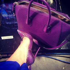 Purple Givenchy and Jimmy Choo heels!