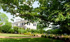 View of the Manor House from the Lion Fountain Garden.   www.innatwillowgrove.com  Photo credit: Rodney Bailey
