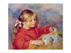Claude Renoir at play, c.1905 Art Print by Pierre-Auguste Renoir