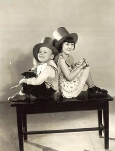 """Bobby """"Wheezer"""" Hutchins and Mary Ann Jackson, Our Gang"""