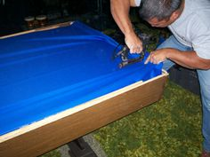 Refelting Your Pool Table  Placing the Felt