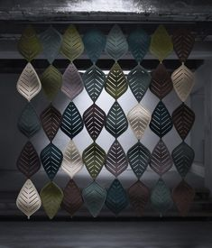 Airleaf soundabsorbing leaves makes it possible to create separate areas and a pleasant soundscape while preserving the room's openness. Office Interior Design, Office Interiors, Office Makeover, Unique Colors, Colours, Curtains, Blanket, Creative, Pattern