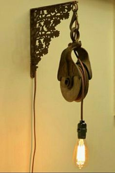 Pulley sconce light