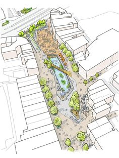Masterplan Proposal Public Realm Scheme Underway in Watford « World Landscape Architecture – landscape architecture webzine Architecture Jobs, Landscape Architecture Design, Architecture Graphics, Architecture Drawings, Site Analysis Architecture, Masterplan Architecture, Architecture Mapping, Classical Architecture, Ancient Architecture