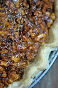 Toffee Pecan Pie Recipe ~ a delicious twist on the traditional Pecan Pie we all know and love. addapinch.com