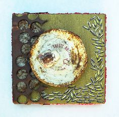 Safety Button: found object assemblage by tristanfrancis on Etsy