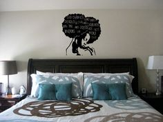 24 in Pressure Wall Decal Natural Hair by NewTribeNewTradition