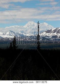 Alaska's Denali, also known as Mt. McKinley is the tallest mountain in North American and one of the Seven Summits of the earth. It's located near the Arctic Circle. ©Photo copyright by Marty Nelson. Photographer website: http://www.bigstockphoto.com/search/?start=300&contributor=Marty+Nelson+Photo+Art&safesearch=n