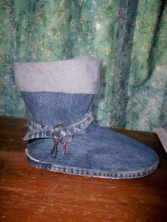 Boots Pattern Sewing DENIM ANKLE BOOTS So cute and by OnWillowLane, $5.00 -