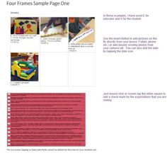 Sample Ontario Kindergarten Four Frames Learning PortfolioTemplate One Note Microsoft, Microsoft Office, Office Suite, How To Get, How To Plan, Ontario, Curriculum, Kindergarten, Software