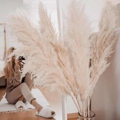 Pampas Grass, Boho, This Or That Questions, Pretty, Beautiful, Flaum, Creme, Interior, Stark