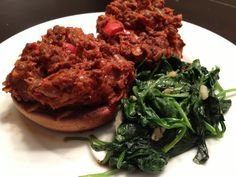 Green lentil sloppy Joes. I made these and they were very tasty on sprouted wheat buns. I also added fresh avocado.  Yummy