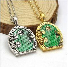 The Hobbit Door Locket Pendant Necklace