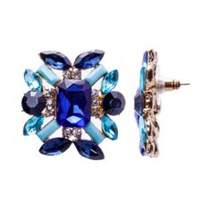 Gemma Simone™ Shiny Gold Blue Earrings  found at @JCPenney
