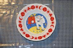 Deep child plate Stavangerflint Norway Inger by MargithVintage, kr140.00