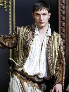 Tom Hardy as Robert Dudley, Earl of Leicester in 'The Virgin Queen' BBC 2005 miniseries