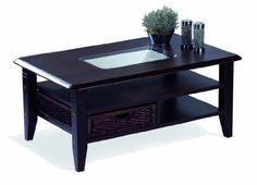 Presto Mobilia Mango 6 Living Room Furniture Dining/ Coffee Table, Wenge 110 x 70 x 47 cm, Tabac/ Brown