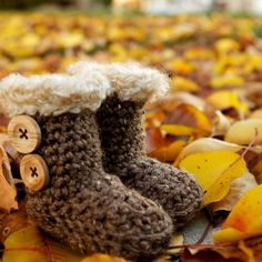 Original BUGG Boots for Babies & Children: Crocheted UGG Style Booties- The Perfect Accessory and Baby Shower Gift