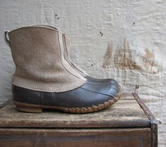 vintage c. 1980s LL Bean Maine Hunting Shoes by MouseTrapVintage, $58.00