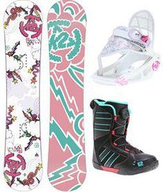 K2 Lil Kandi Grom Pack Snowboard 110 w/ Boots/Bindings for Sale - Girls