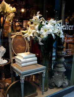 French shop  We have all of the elements to recreate thi window in our store.