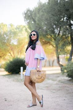 Summer Maternity, Pregnancy Looks, Lil Baby, Baby Bumps, Straw Bag, Bb, Chic, Outfits, Beautiful