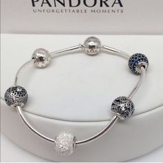 """HOST PICK!!Pandora Essence Bracelet 7.5"""" This is a Brand New Authentic Pandora Bracelet. With Joy, Balance, Freedom, Wisdom & Peace Charms.    Comes in Pandora Ring Box.   No Trades. Please.   Visit my Store with over 700 Pandora Items.   All Hallmarked and properly stamped.  If any questions or concerns please drop me a note.   Thanks and Happy Shopping.   Oh, if you need anything special just let me know and I will do my best to get you what you want. Pandora Jewelry Bracelets"""