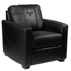 NBA New Orleans Pelicans Silver Club Chair with Alternate Logo Multi