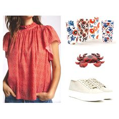 Now that it's officially summer, I asked Elizabeth to send me a sweet summery outfit so I can make a cheerful room. What I didn't expect was the cutest red, white, and blue outfit that is actually perfect for the Fourth of July! Since we will all likely be watching the fireworks on television and grilling in the backyard this year, I thought it would be fun to create an outdoor living space... Red White Blue, Fourth Of July, Fireworks, Things To Think About, Outdoor Living, Living Spaces, Grilling, Cover Up, Backyard