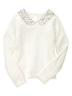Embellished Peter Pan sweater | Gap.  I KNOW I could make this.