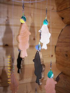 Wooden Fish Mobile by MobileMadness on Etsy, $25.00 perfect for nursery