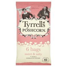 Tyrrells Multipack Popcorn Sweet And Salty 6 Pack (C)