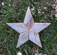 Groovy Reclaimed Wood Blue Wooden Star Tree Topper Christmas Decoration Easy Diy Christmas Decorations Tissureus