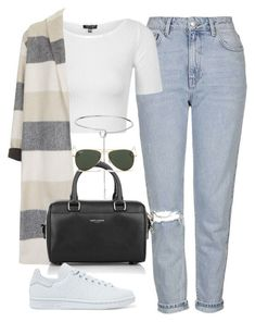 """Sin título #2078"" by camila-echi liked on Polyvore featuring Topshop Eddie Borgo Yves Saint Laurent adidas Originals and Ray-Ban"