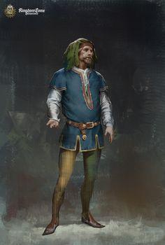 Concepts of noble men for the game Kingdom Come Art Director: Mikulas Podprocky Lead Character Artist: Jiri Bartonek Fantasy Heroes, Fantasy Rpg, Medieval Fantasy, Medieval Art, Dark Fantasy, Dnd Characters, Fantasy Characters, Character Portraits, Character Art