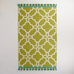 One of my favorite discoveries at WorldMarket.com: Green Lattice Indoor-Outdoor Rug