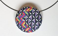 Cute Geo Necklace by DustyJo with Liberty of London fabric