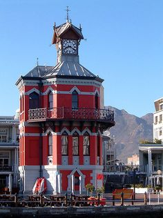 V Waterfront Clock tower in Cape Town, South Africa only on hour from Franschhoek home of La Cle des Montagnes four luxurious villas on a working wine farm Cool Places To Visit, Great Places, V&a Waterfront, Cape Town South Africa, Most Beautiful Cities, Africa Travel, Safari, Around The Worlds, City