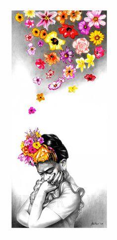 Frida by Hector Silva Diego Rivera, Frida E Diego, Frida Art, Frida Kahlo Artwork, Illustrations, Illustration Art, Kahlo Paintings, Mexican Artists, Chicano Art