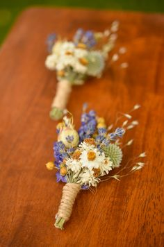 Purple wildflowers boutonniere spring by TheBlaithinBlairShop
