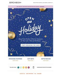 e-newletter email newsletter marketing design layout inspiration lifestyle beauty cosmetics birchbox christmas holidays Layout Design, E-mail Design, Logo Design, Banner Design, Flat Design, Newsletter Layout, Email Layout, Email Newsletter Design, Email Newsletters